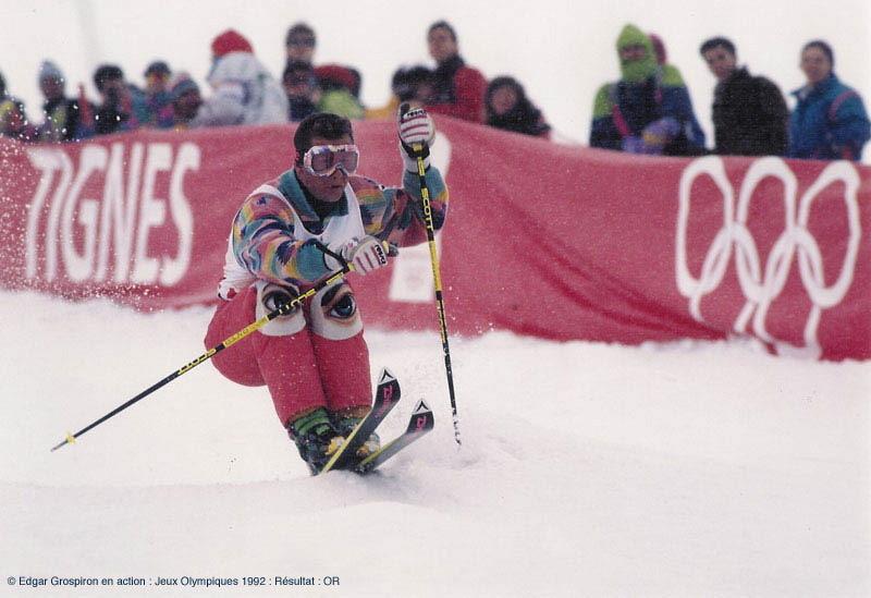 EDGAR GROSPIRON TIGNES 1992 @ MEMOSPORT.FR