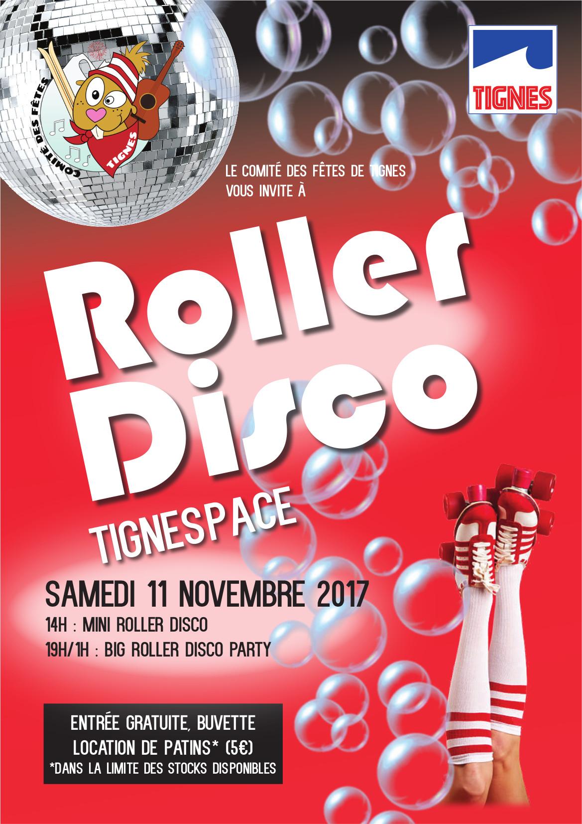 Affiche Soirée roller disco 2017