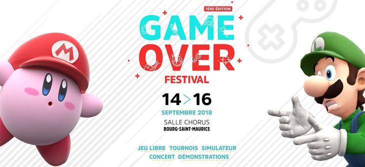 GAME OVER FESTIVAL 2018 VISUEL @ GAMEPLAY TARENTAISE