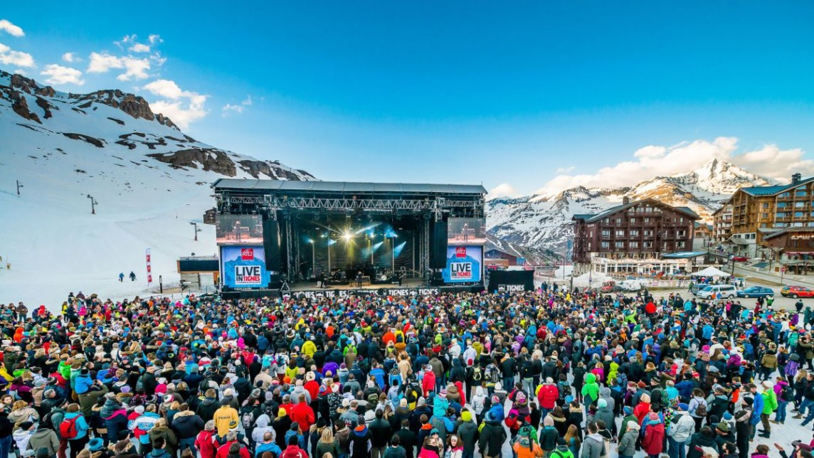 LIVE IN TIGNES MAIN STAGE LAC @ ANDYPARANT