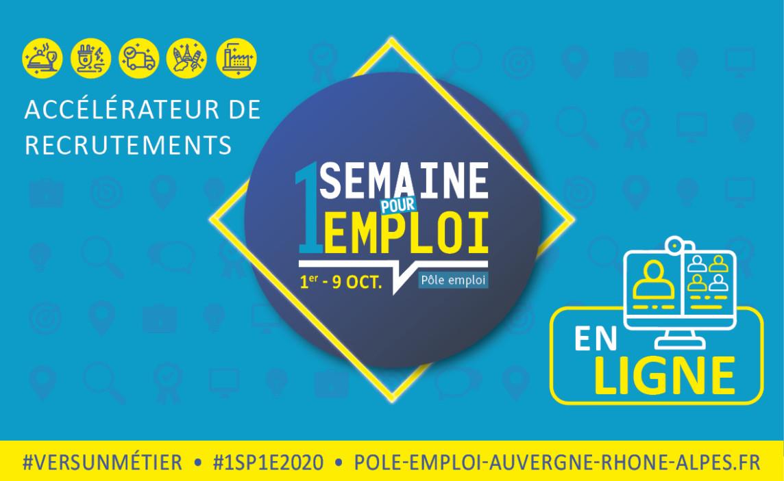 1 semaine 1 emploi 2020 visuel @ POLE EMPLOI.FR
